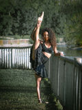 Latino dancer in a dark park Royalty Free Stock Photo