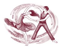Latino dancers stock illustration