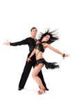 Latino dancers in action Royalty Free Stock Photography