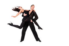 Latino dancers in action Stock Photo