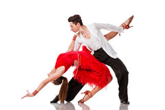 Latino dancers in action. Isolated royalty free stock images
