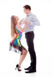 Latino dancers in action Royalty Free Stock Images