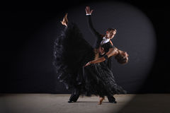 Latino dancers in ballroom Stock Image