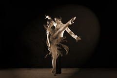 Latino dancers in ballroom Royalty Free Stock Images