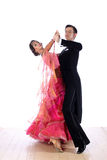 Latino dancers in ballroom. Against white background Stock Image
