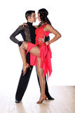 Latino dancers in ballroom Stock Photo