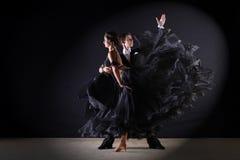 Latino dancers in ballroom Stock Photos