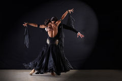 Latino dancers in ballroom Stock Photo