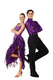 Latino dancers posing royalty free stock image