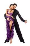 Latino dancers posing stock image