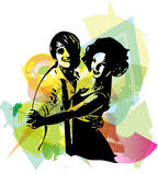 Latino Dancing couple Stock Images