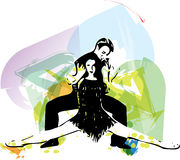 Latino Dancing couple Stock Photo