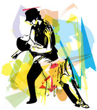 Latino Dancing couple. Abstract illustration of Latino Dancing couple Royalty Free Stock Photos