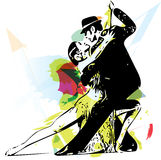 Latino Dancing couple. Abstract illustration of Latino Dancing couple Stock Photos