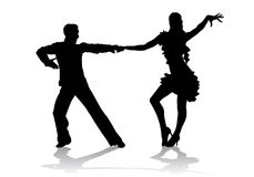 Latino dancing. A couple in costumes dancing Latin dances Stock Image