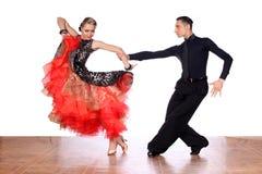 Latino dansers in balzaal royalty-vrije stock fotografie