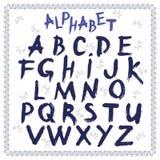 Latino do alfabeto, mão tirada, vetor ilustração do vetor