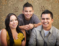 Latino Family Laughing Together Royalty Free Stock Images