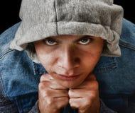 Latino Gang Member. Striking Image of a young Latino Gang member Royalty Free Stock Image