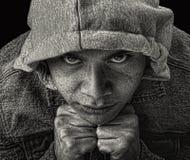 Latino Gang Member. Striking Image of a young Latino Gang member Royalty Free Stock Photo