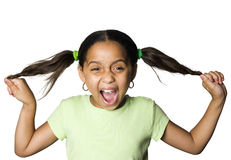 Latino girl laughing Royalty Free Stock Photo