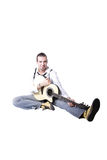 Latino guitar player Stock Photos