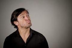 Latino male pouting Royalty Free Stock Photos
