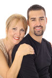 Latino Man With Mother Royalty Free Stock Images