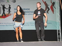 Latino marathon Royalty-vrije Stock Foto's