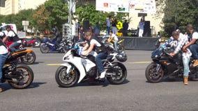 Latino-Motorrad-Club stock video footage