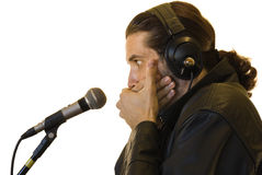 Latino Rock Star Burped in a Live Show Royalty Free Stock Photos