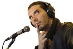 Latino Rock Star Forgot Lyrics Royalty Free Stock Photo