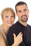 Latino son with his mother Stock Photography
