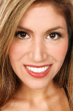 Latino Woman Close Up. Close up head shot of a pretty Latino woman Stock Photos