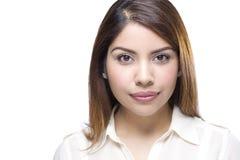 Latino Woman Portrait. A Beautiful Hispanic Woman Portrait Royalty Free Stock Image