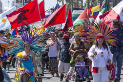 Latinos unite against Donal Trump Royalty Free Stock Image