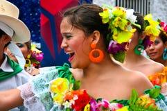 Latinsk dansareflicka Fotografering för Bildbyråer