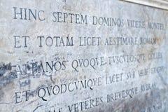 Latinsk skrift Arkivbilder