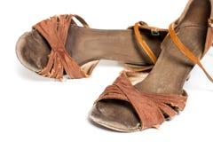 Latinska skor för balsaldans Arkivfoto