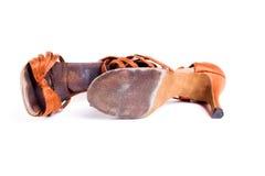 Latinska skor för balsaldans Royaltyfri Foto