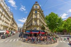 Latinskt mer quartier område i Paris, Frankrike Fotografering för Bildbyråer