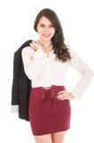 Latinskt nätt elegant posera för flicka Fotografering för Bildbyråer