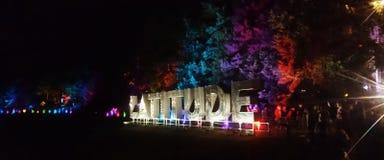 Latitude festival sign royalty free stock photography