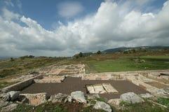 Latium,意大利Norga古城 库存照片