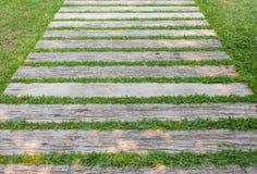 Latje met gras Stock Foto's