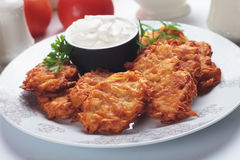 Latke, jewish potato pancakes Royalty Free Stock Image