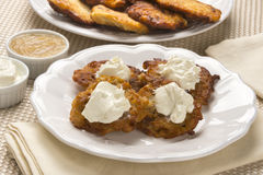 Latke Time for Hanukah Royalty Free Stock Photos