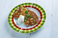 Latkes da panqueca de batata Imagem de Stock