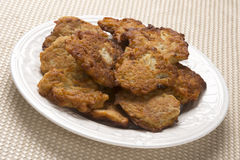 Latkes for Hanukah Royalty Free Stock Photography