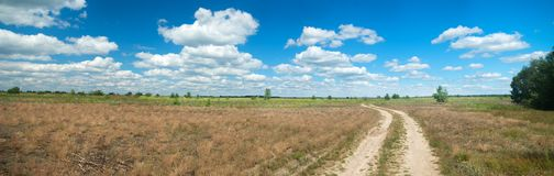 Lato łąki krajobraz zdjęcia stock
